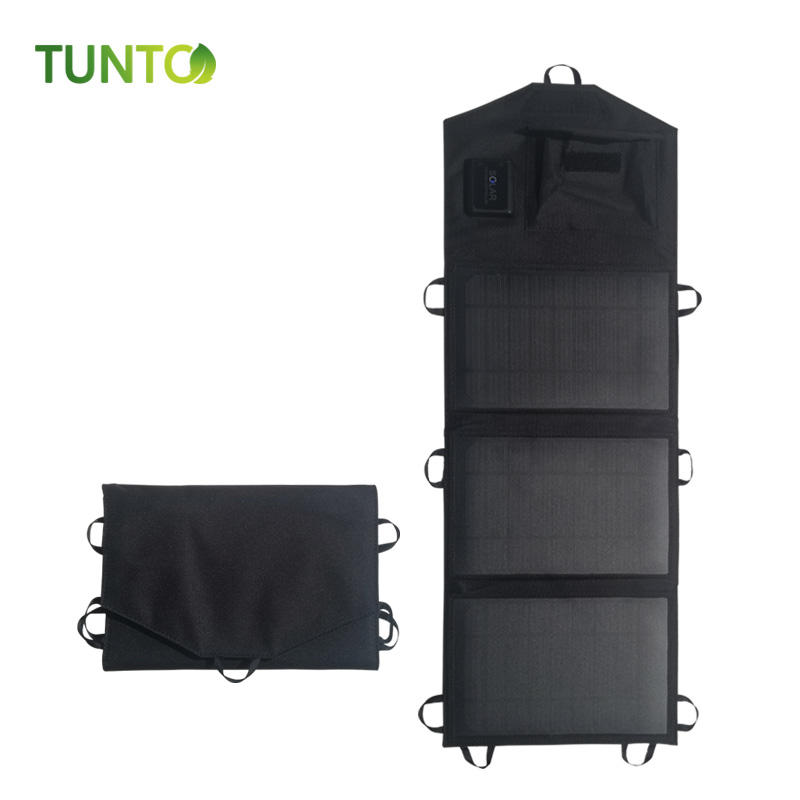 portable foldable solar panel 10W 21W for outdoor camping hiking