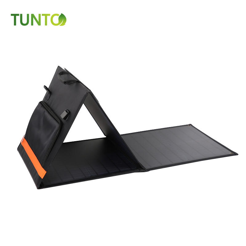 portable foldable solar panel 60W for outdoor camping hiking Fish boat