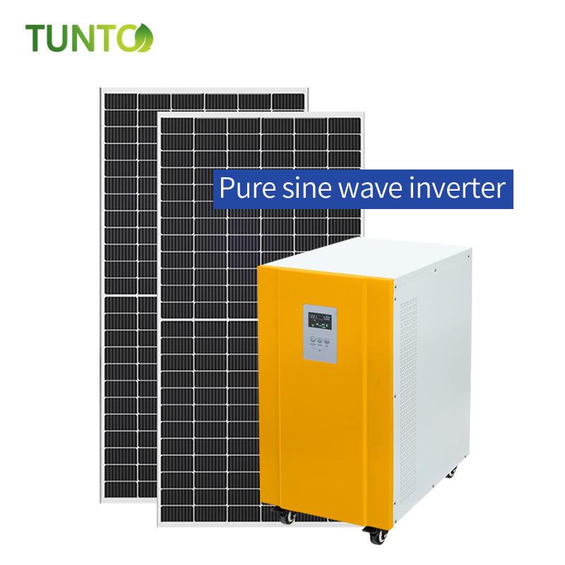 Professional 12KW pure sine wave solar inverter 96V/192V/384VDC off grid solar system with Intelligent LCD integration display Supplier-Tunto