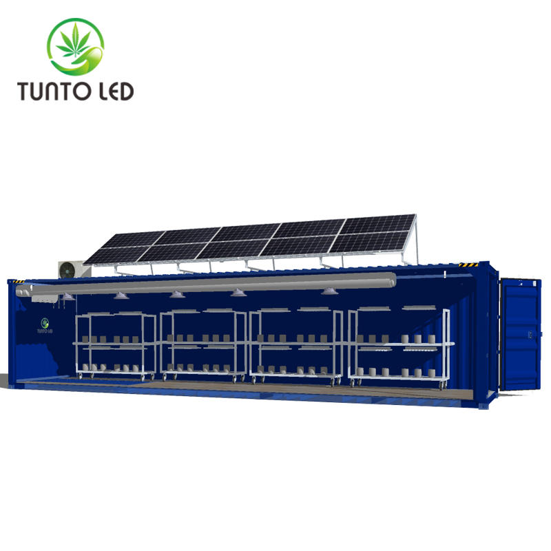 Container grow room with solar power intergrate system