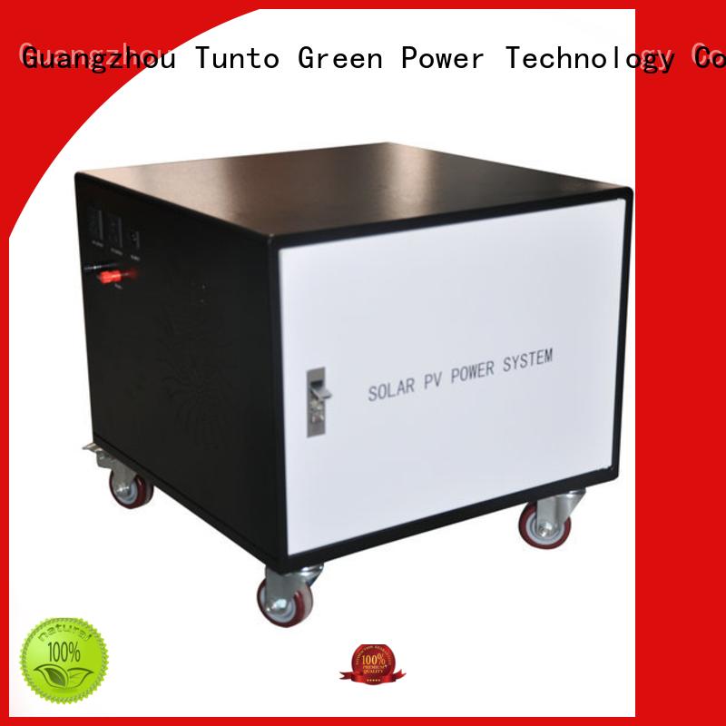 Tunto 10w solar generator kit directly sale for street