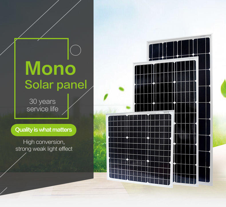 Tunto 60w monocrystalline solar panel factory price for solar plant-1