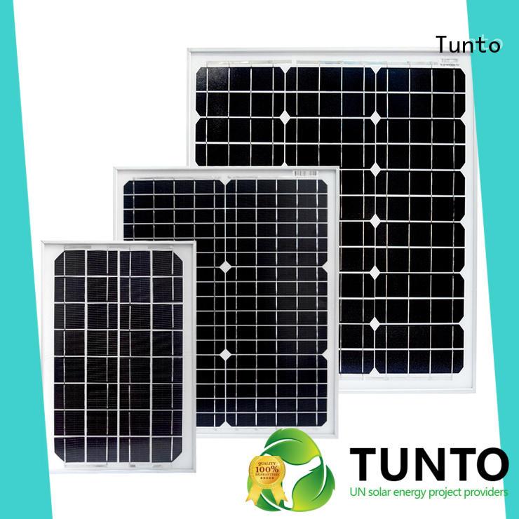 Tunto durable monocrystalline solar panel personalized for solar plant