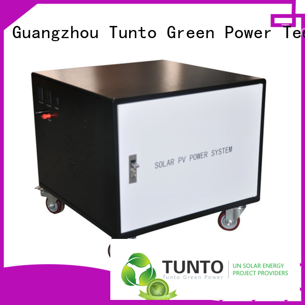 Tunto off grid solar power systems directly sale for outdoor