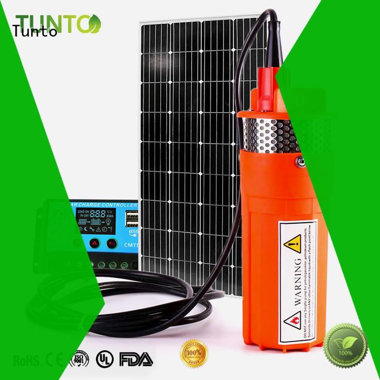 Tunto solar powered pump manufacturer for irrigation