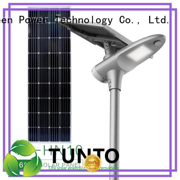 Tunto integrated solar street light personalized for outdoor