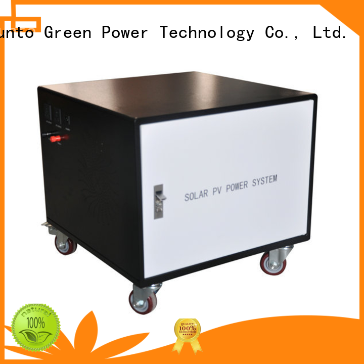 Tunto portable solar power generator customized for plaza