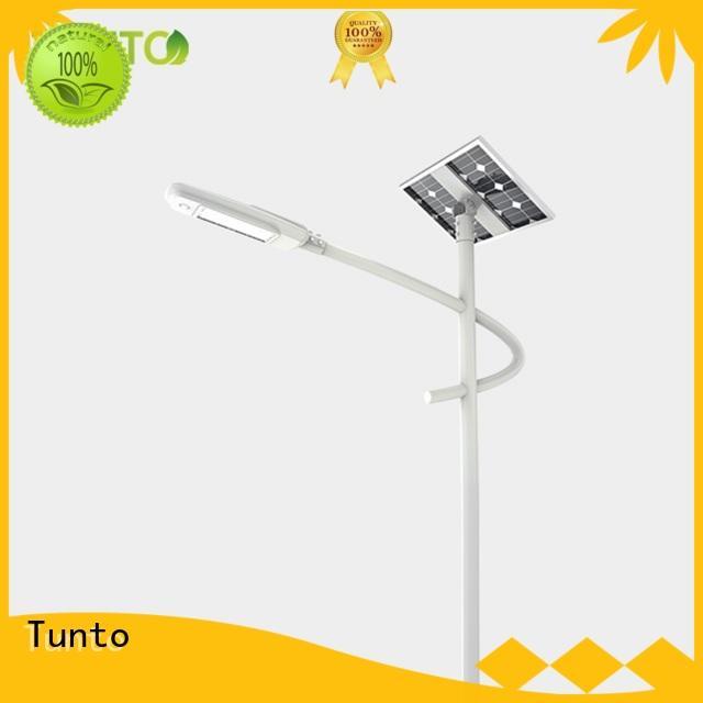 Solar street lamp with built-in battery split-type