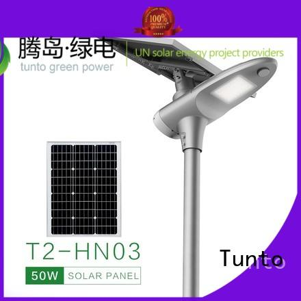 integrated solar led street light control outdoor lighting Tunto Brand