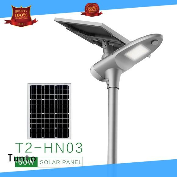 Tunto 4000lm commercial solar street lights factory price for parking lot