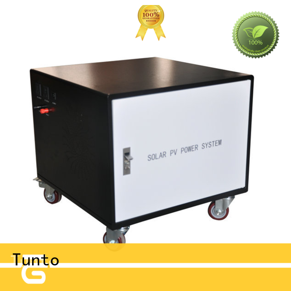 Tunto durable off grid solar system price manufacturer for street