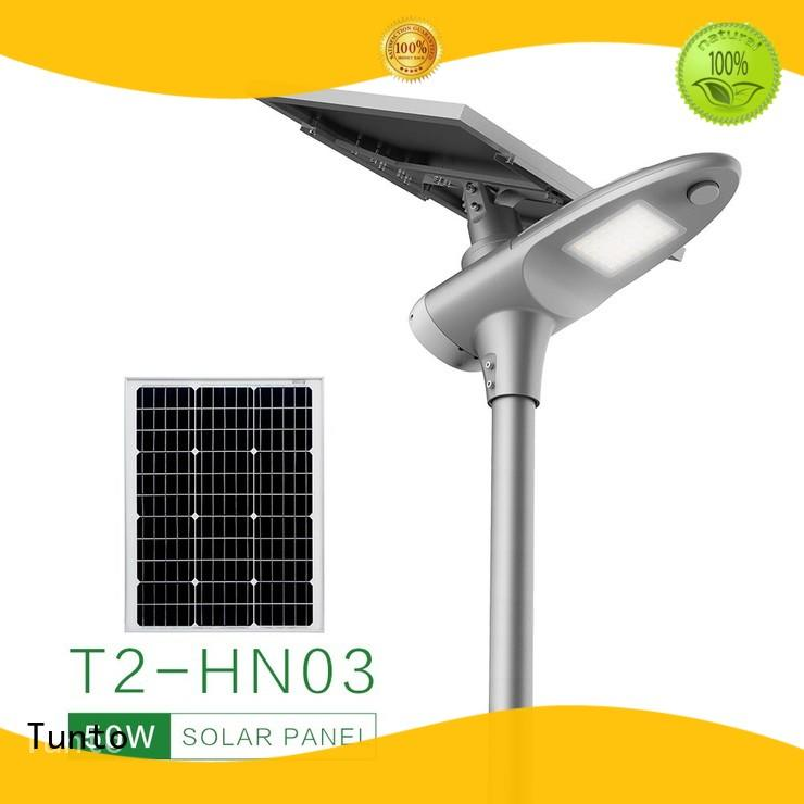 warm quality Tunto Brand solar powered street lights