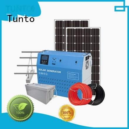 Tunto portable solar power generator series for plaza
