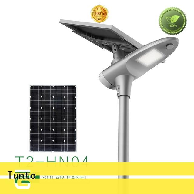 Tunto 30w solar powered parking lot lights supplier for parking lot