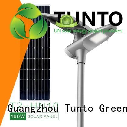 Tunto 50w solar powered street lights supplier for road