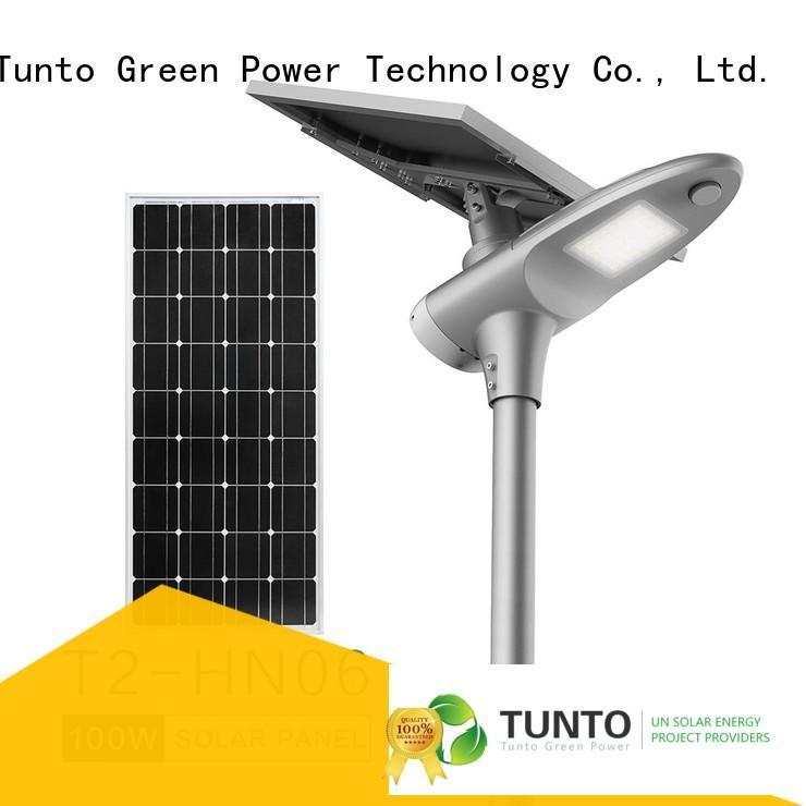 Tunto solar street lighting system wholesale for parking lot