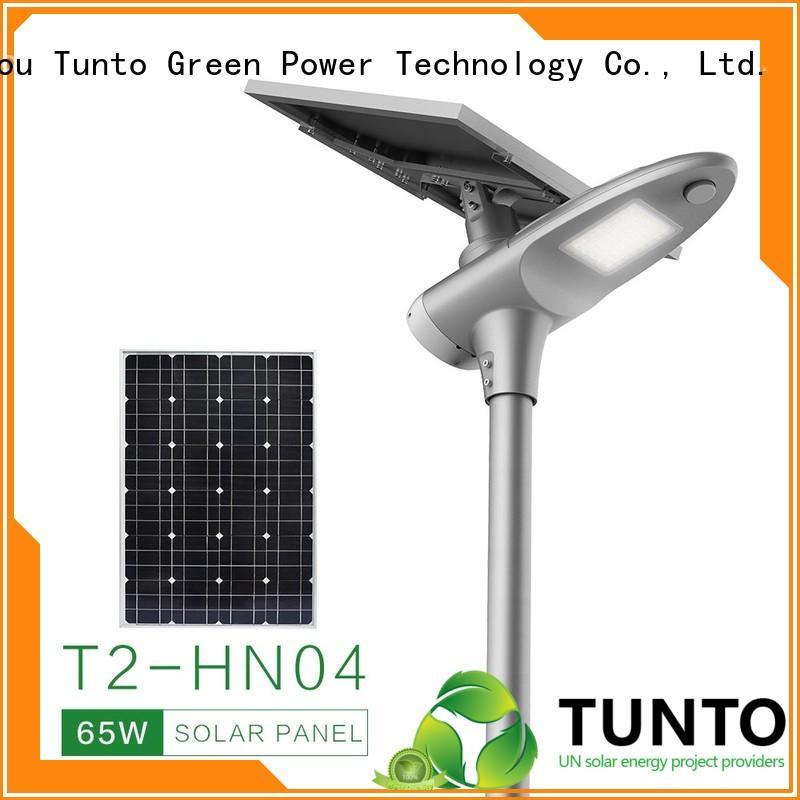 Tunto solar street lamp factory price for road
