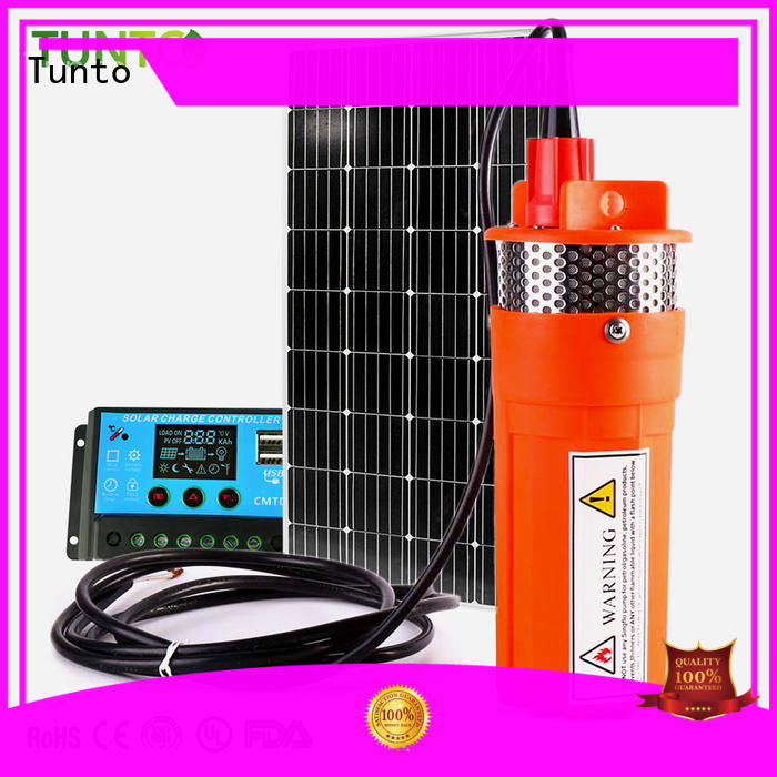 Tunto solar powered water pump customized for garden