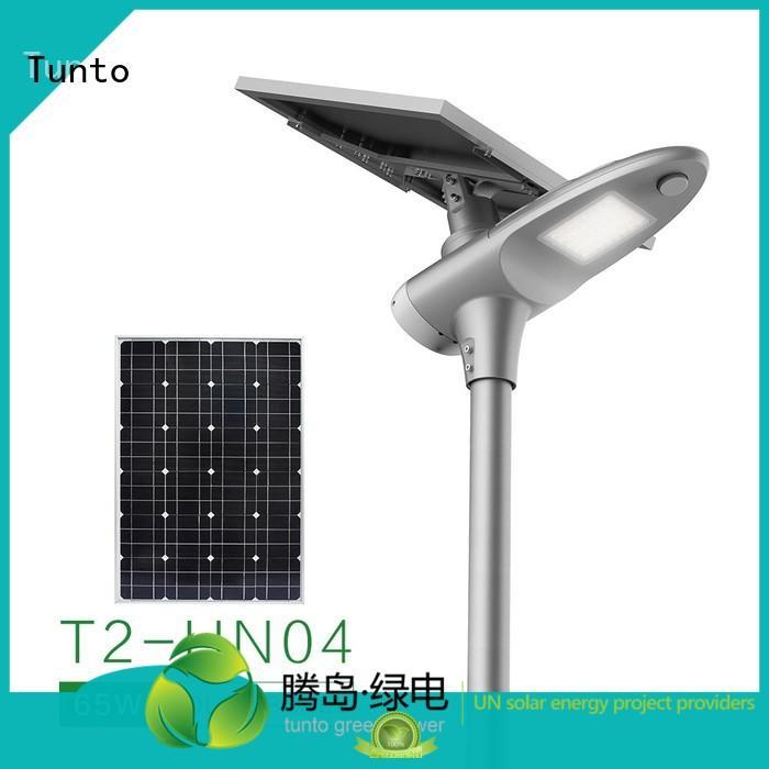 Tunto Brand quality solar powered street lights sensor factory