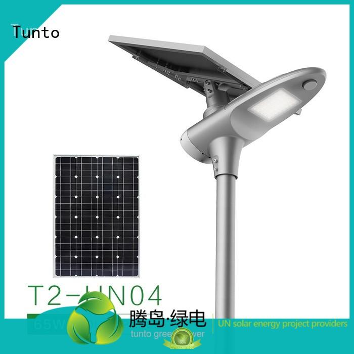 Tunto Brand quality solar powered street lights sensor factory