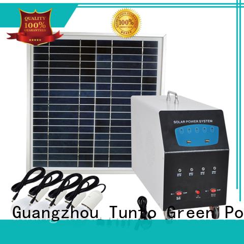 Tunto portable off grid solar kits customized for outdoor