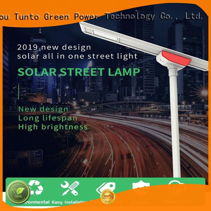 Tunto solar street light manufacturer wholesale for parking lot