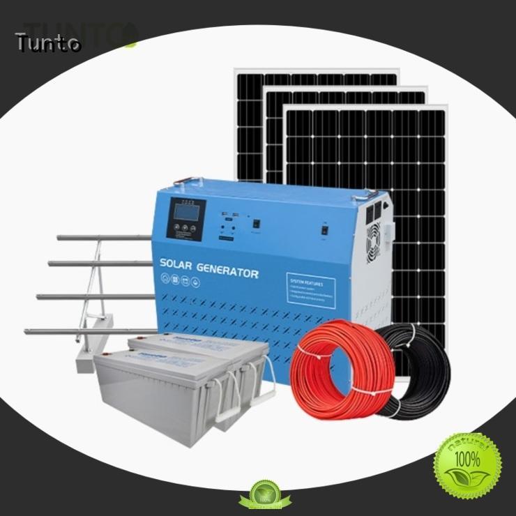 Tunto 600w best solar generator manufacturer for plaza