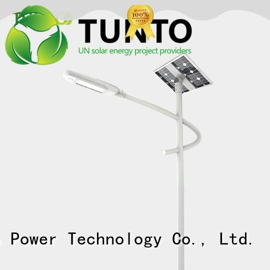 Tunto cool solar powered street lights supplier for parking lot