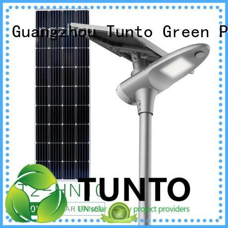 Tunto 80w best solar street lights supplier for plaza