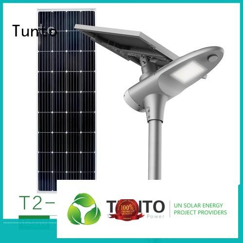 Tunto 50w all in one solar street light wholesale for parking lot
