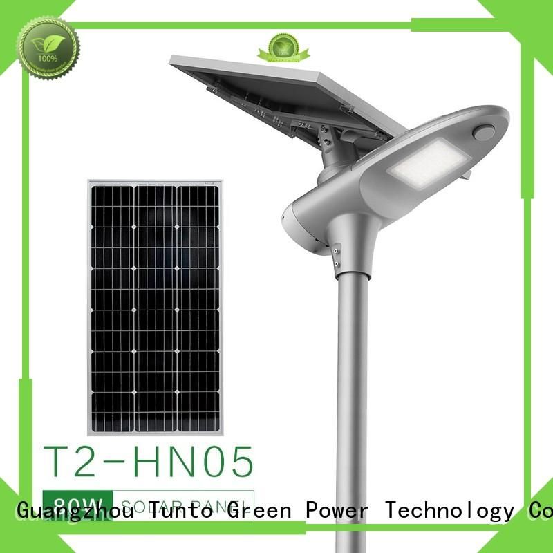 Tunto Brand garden warm quality solar powered street lights manufacture