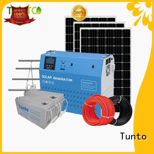 Tunto 5kw off grid solar panel kits directly sale for street