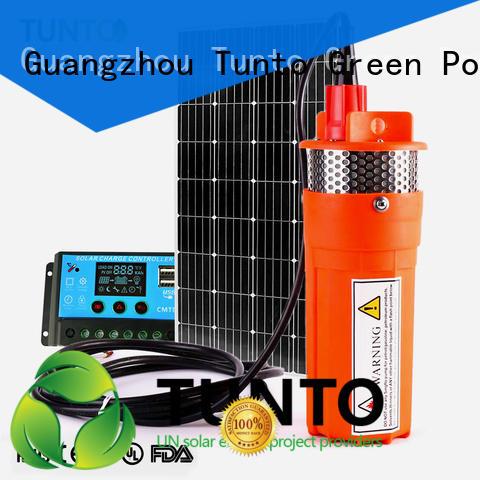 Tunto anti-corrosion solar power water pumping system for pondaeration