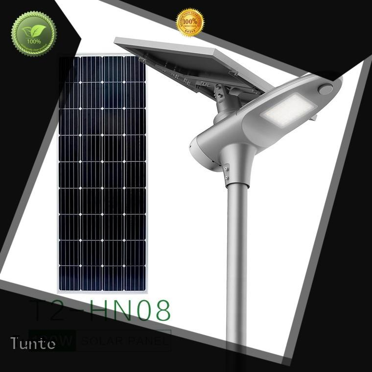 Tunto solar street light price list factory price for road