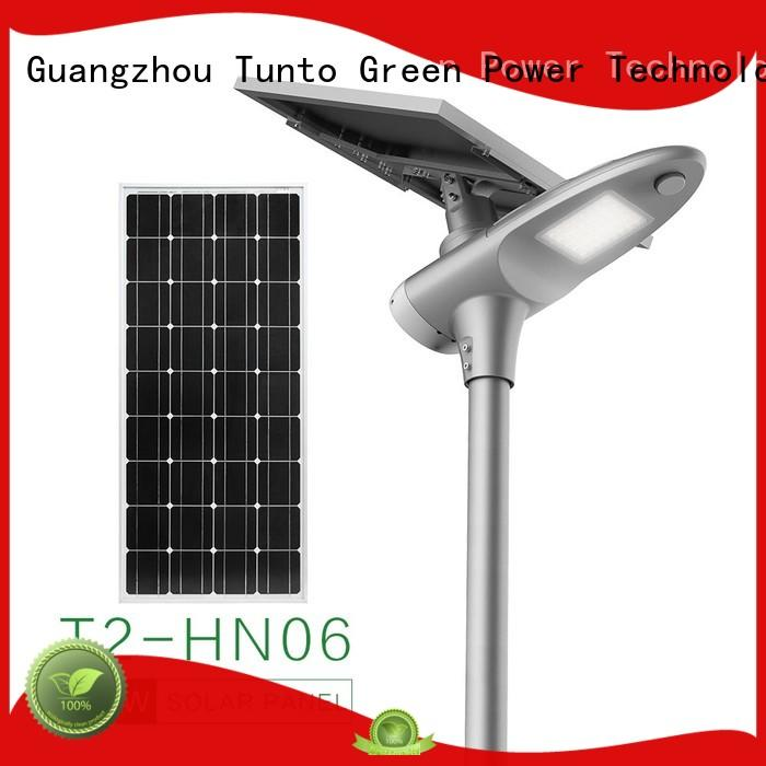 80w outdoor solar street lamps supplier for road Tunto