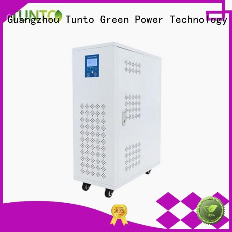 Tunto mini portable solar power generator manufacturer for street
