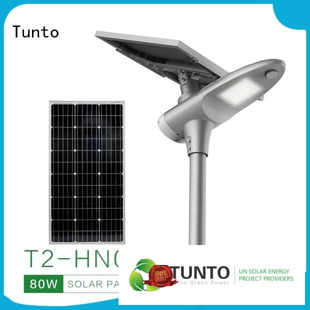 Tunto solar street lighting system wholesale for plaza
