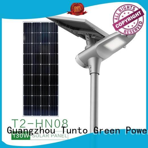 Tunto solar parking lot lights supplier for road