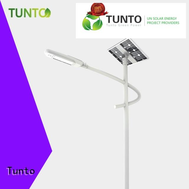 Tunto solar powered parking lot lights factory price for plaza