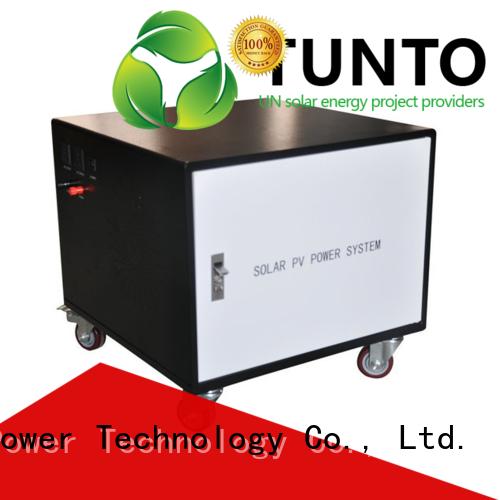 Tunto stable solar generator kit 3000w for plaza