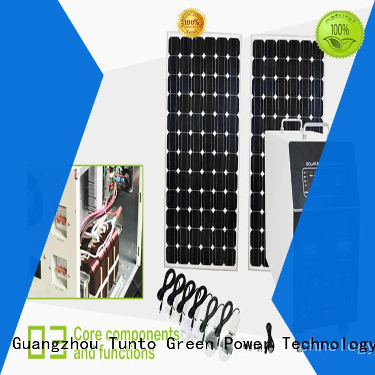 Tunto portable solar power generator from China for road