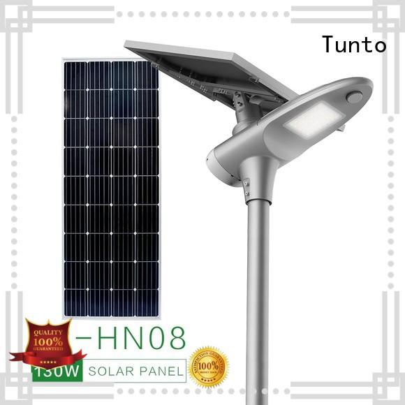 integrated solar street light supplier for parking lot Tunto
