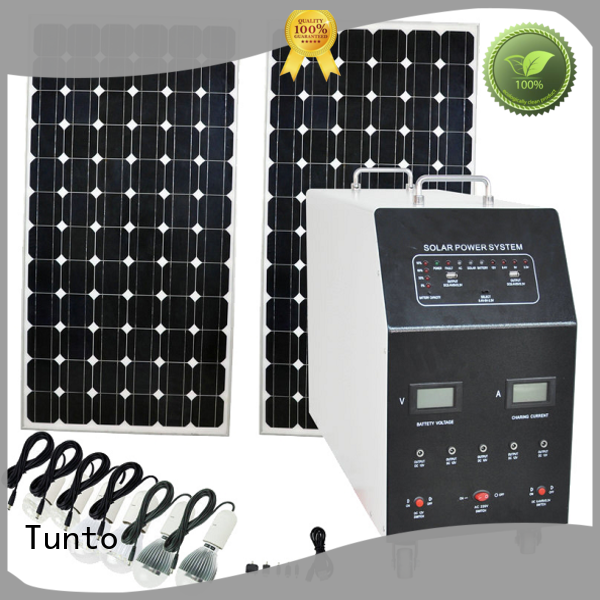 Tunto 10w off grid power systems directly sale for plaza