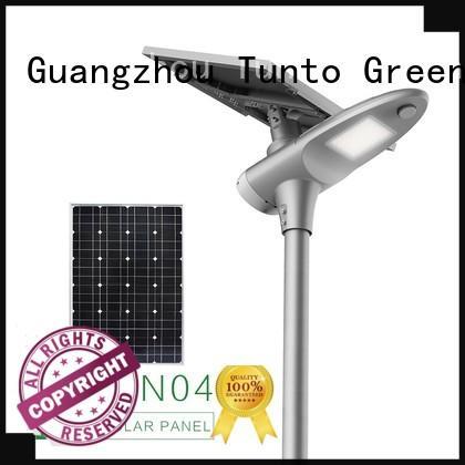 Tunto solar street lighting system supplier for plaza