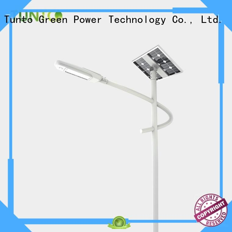 solar powered parking lot lights factory price for outdoor Tunto