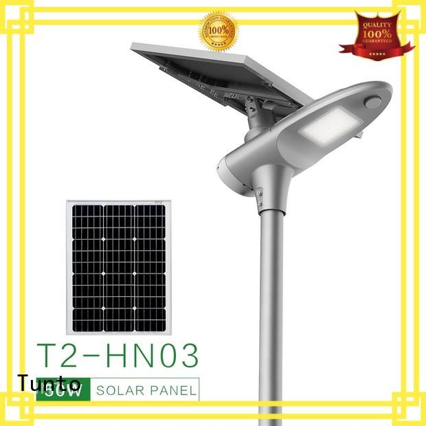Tunto 50w solar parking lot lights factory price for parking lot