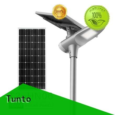 Tunto 4000lm solar powered street lights cost for plaza