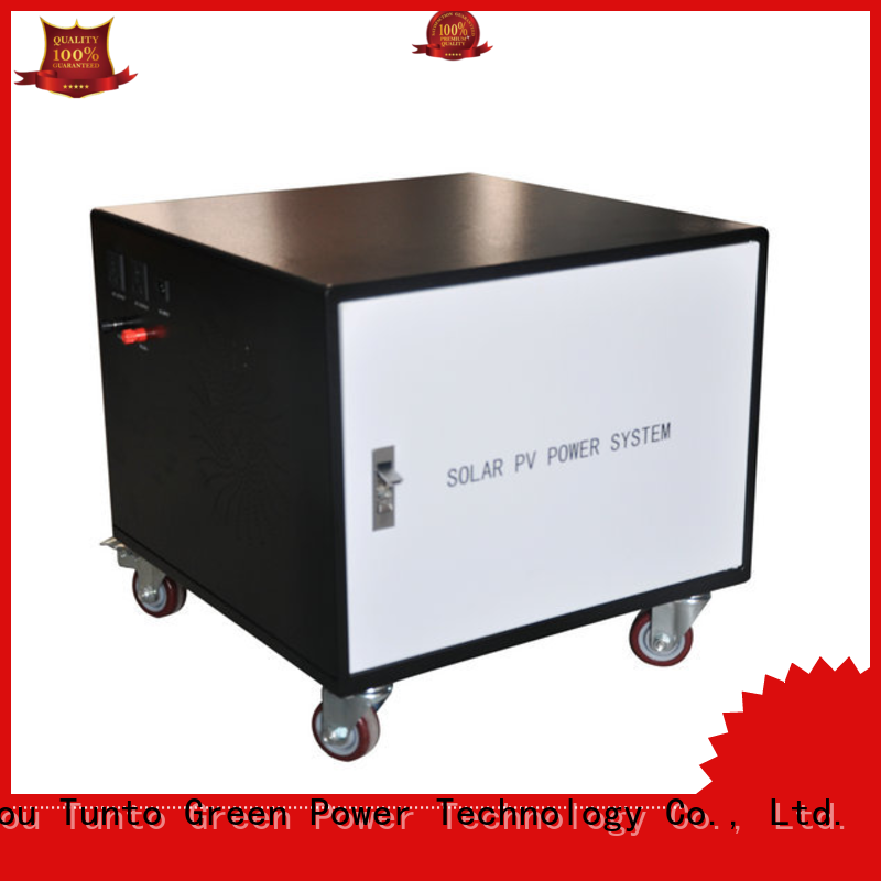 Tunto durable off grid power systems series for plaza