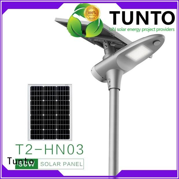 Tunto solar powered outside lights supplier for parking lot