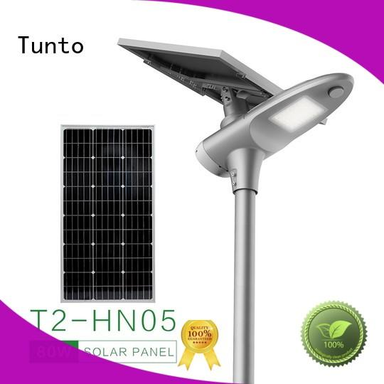 all in one solar light factory price for plaza Tunto